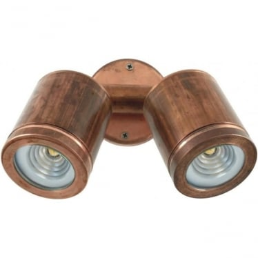 PURE LED Twin Wall Spot - copper - Low Voltage