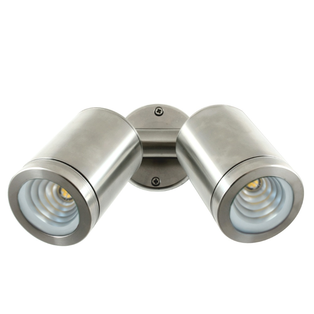 Hunza outdoor lighting hunza outdoor lighting pure led twin wall pure led twin wall spot stainless steel low voltage mozeypictures Choice Image