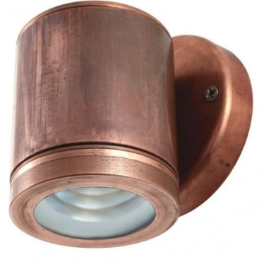 PURE LED Wall Down Light - copper - Low Voltage