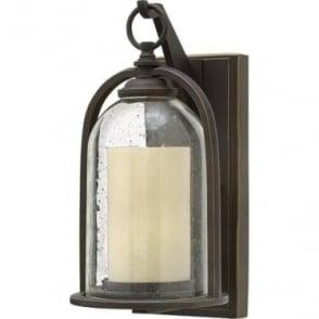 Quincy small wall lantern - Bronze
