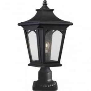 Bedford Medium Pedestal Lantern Mystic Black