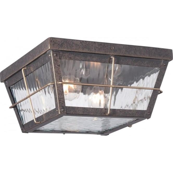 Quoizel Cortland Outdoor Flush Mount Imperial Bronze