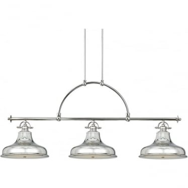 Emery 3 Light Island fitting Imperial Silver