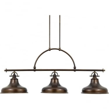 Emery 3 Light Island fitting Palladian Bronze