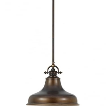 Emery Single Medium Pendant Palladian Bronze
