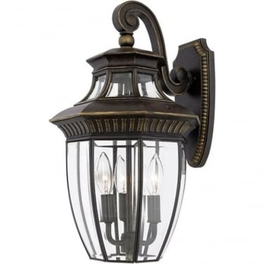 Georgetown 2 medium wall lantern - Bronze