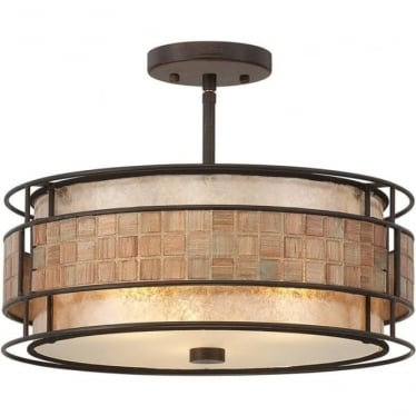 Laguna Semi-Flush Mount Fitting Renaissance Copper