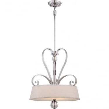 Madison Manor 4 light Pendant Imperial Silver
