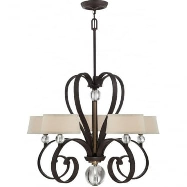 Madison Manor 5 light Chandelier Western Bronze