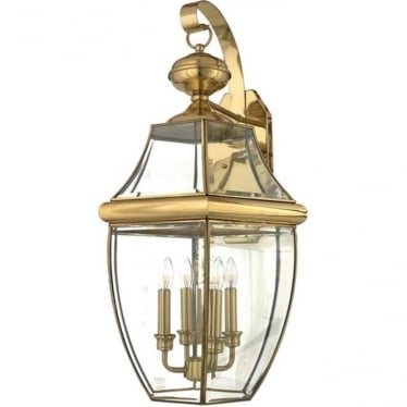 Newbury extra large wall lantern - Brass
