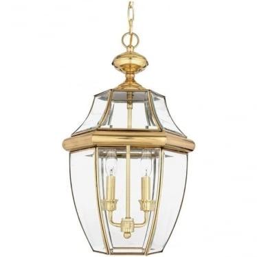 Newbury large chain lantern - Brass