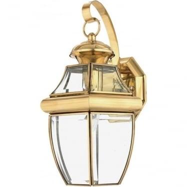 Newbury medium wall lantern - Brass