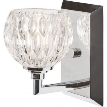 Serena Single Light Bathroom LED Wall Light IP44 Polished Chrome