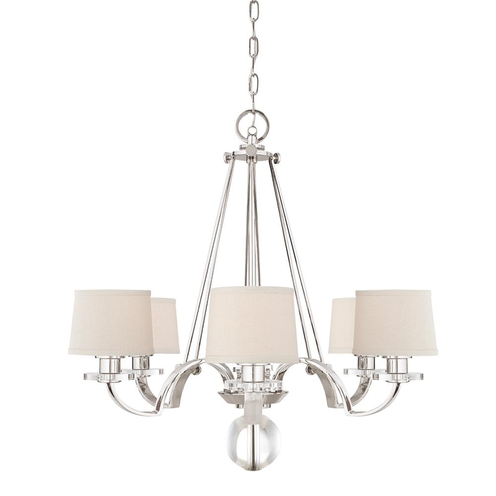 quoizel quoizel sutton place 6 light chandelier imperial silver