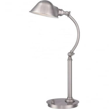 Thompson LED Table Lamp Brushed Nickel