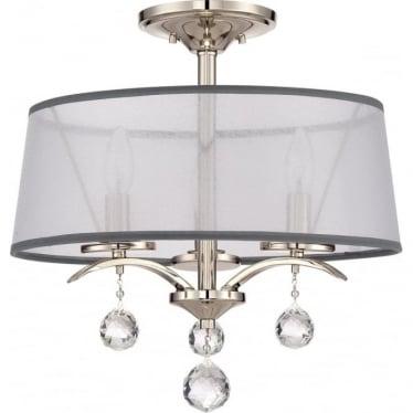Whitney Semi Flush/Pendant Light Imperial Silver