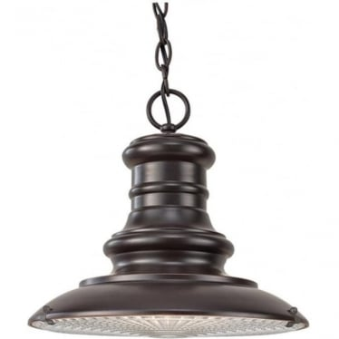 Redding Station medium chain lantern - Bronze