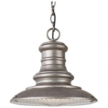 Redding Station medium chain lantern - Tarnished