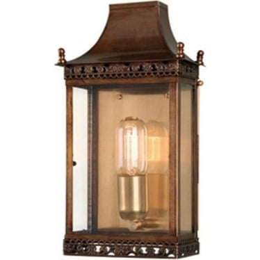 Regents Park Wall Lantern - Brass