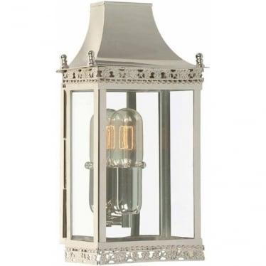 Regents Park Wall Lantern - Polished Nickel