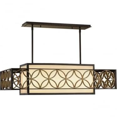 Remy 4 light Chandelier Heritage Bronze & Parisienne Gold