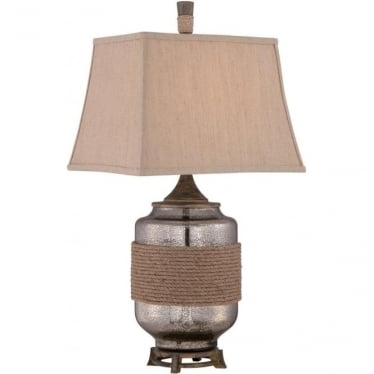 Rigging Table Lamp Decorated With Rope