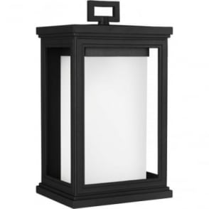 Roscoe Medium Wall Lantern Textured Black