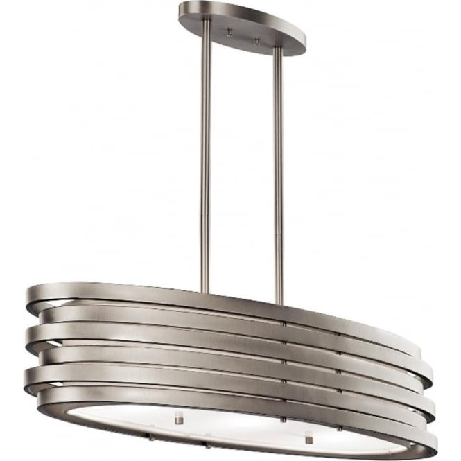 Kichler Roswell Oval Island Pendant Brushed Nickel