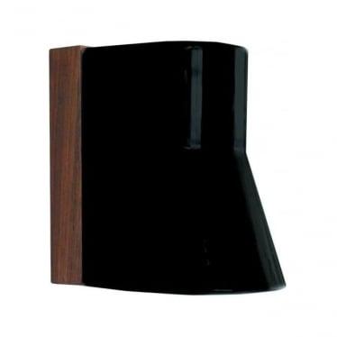 Beacon wall fitting - Teak & porcelain black
