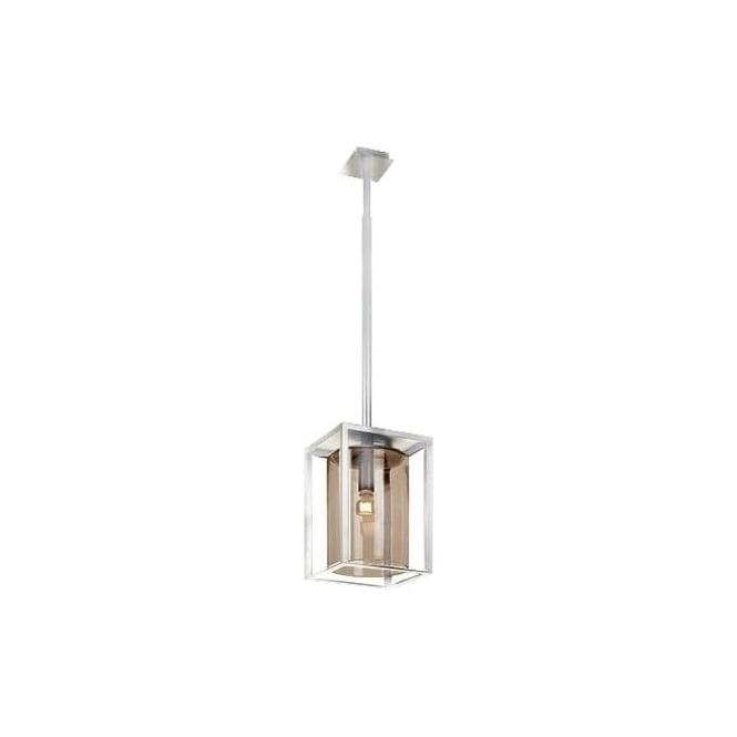 Royal Botania Dome Ceiling pendant - White frame & Amber glass - Long