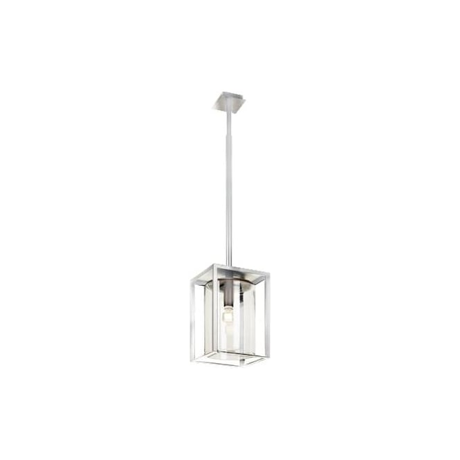 Royal Botania Dome Ceiling pendant - White frame & clear glass - Long