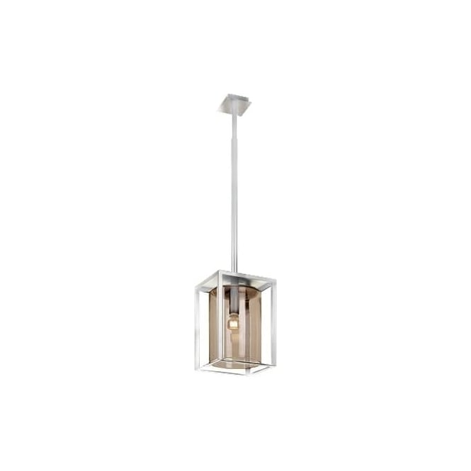 Royal Botania Dome Ceiling pendant - White frame & Smoked glass - Long