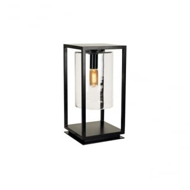 Dome Gate lamp - Black frame & clear glass