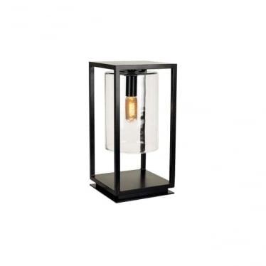 Dome Gate lamp - Black frame & clear glass