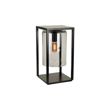 Dome Gate lamp - Black frame & Smoked glass