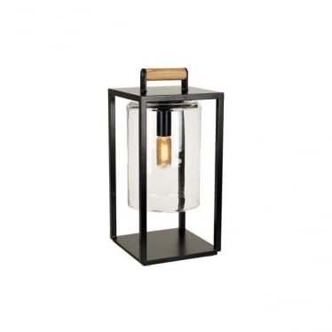 Dome Small lamp - Black frame & clear glass