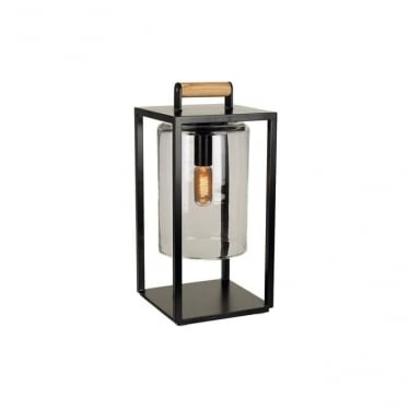 Dome Small lamp - Black frame & Smoked glass