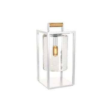 Dome Small lamp - White frame & clear glass