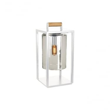 Dome Small lamp - White frame & Smoked glass