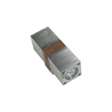 Q-Bic - Teak & Electro polished stainless steel - Double