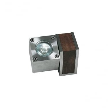 Q-Bic - Teak & Electro polished stainless steel - Single