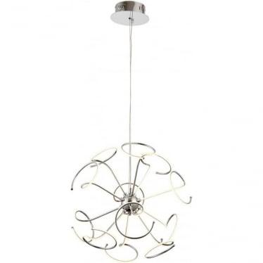 Sandy 12 light ceiling pendant - Chrome