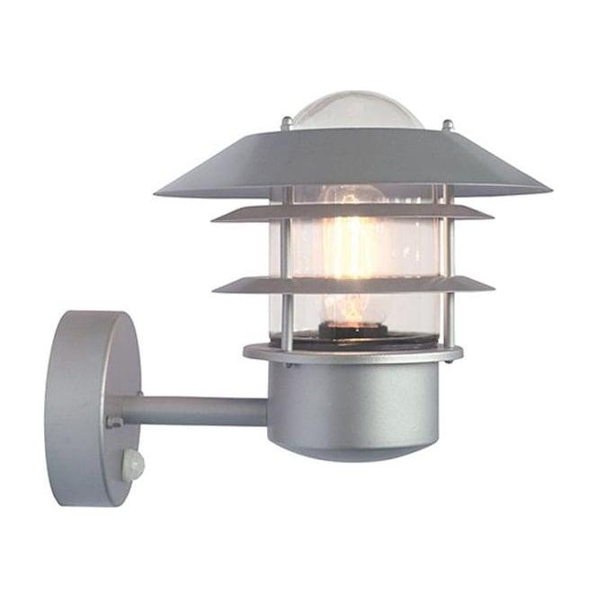 Elstead Lighting Scandinavian Helsingor PIR wall lantern - Silver