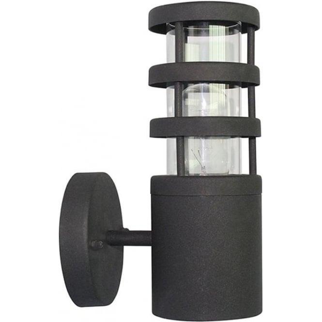 Elstead Lighting Scandinavian Hornbaek wall lantern - Black