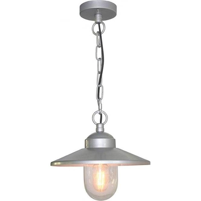 Elstead Lighting Scandinavian Klampenborg chain lantern - Silver