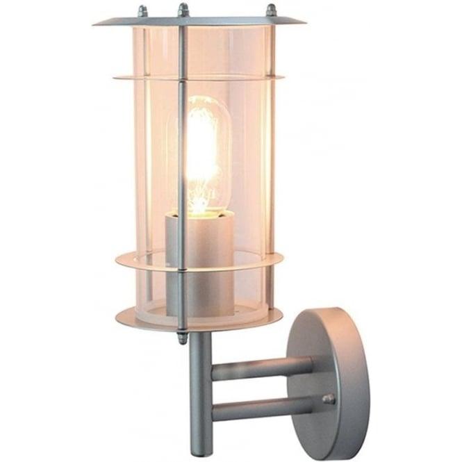 Elstead Lighting Scandinavian Ordrup wall lantern - Silver