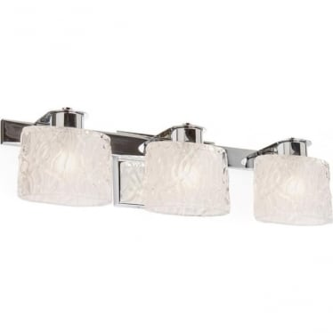 Seaview 3 Light Above Mirror Bathroom LED Light IP44 Polished Chrome