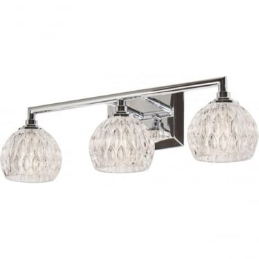 Serena 3 Light Above Mirror Bathroom LED Light IP44 Polished Chrome