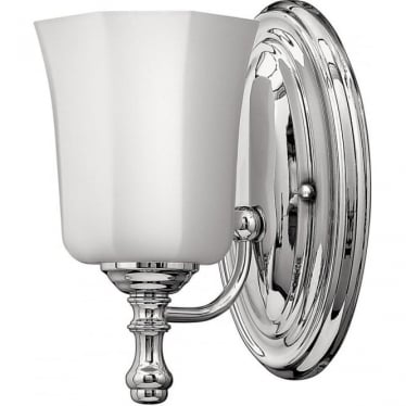 Shelly Single Light Bathroom LED Wall Light IP44 Polished Chrome