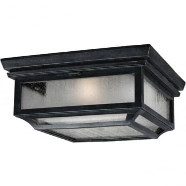 Shepherd 2 light Flush Mount Ceiling Light Dark Weathered Zinc
